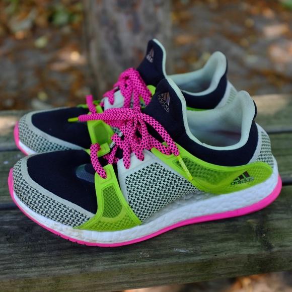 0973215ab4512 adidas Shoes - Adidas Pure Boost X TR W Black Pink Green